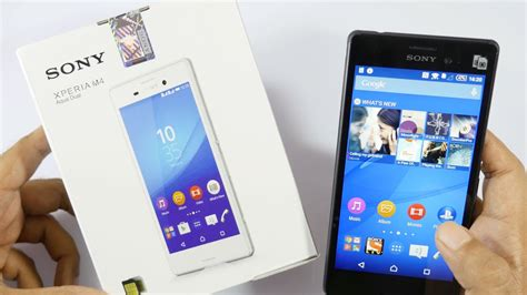 Sony Xperia M4 Aqua Unboxing & Hands On Overview - YouTube