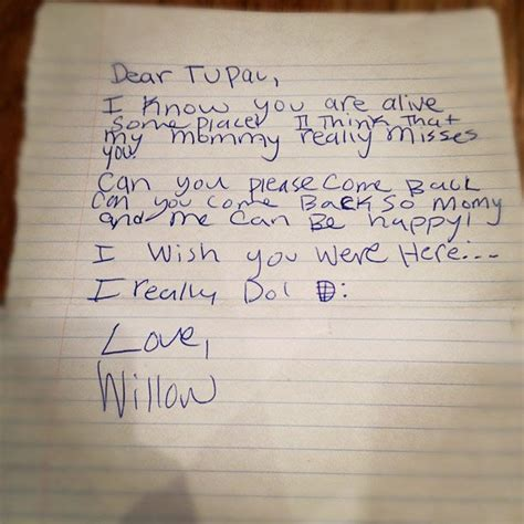 Read a Young Willow Smith's Heartfelt Letter to Tupac