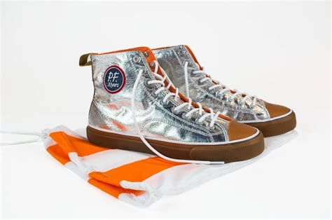 Shiny Space Shoes: 'Mercury All American' Sneakers Styled