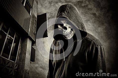 Skull In The Hood Royalty Free Stock Photos - Image: 33827478