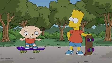 When Stewie met Bart: The Family Guy-Simpsons crossover