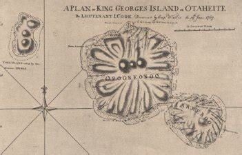 Endeavour reaches Tahiti with James Cook in Command 1769
