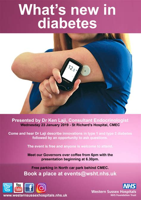 Diabetes event - 23 January 2019 - Western Sussex Hospitals